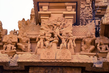 A Beautiful Carvings Found On The  Tower Of Tanjore Big Temple In South India