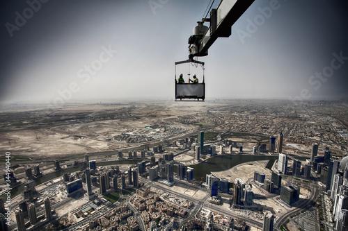 Burj Khalifa skyscraper tallest architecture building engineering tower Dubai hi Wallpaper Mural