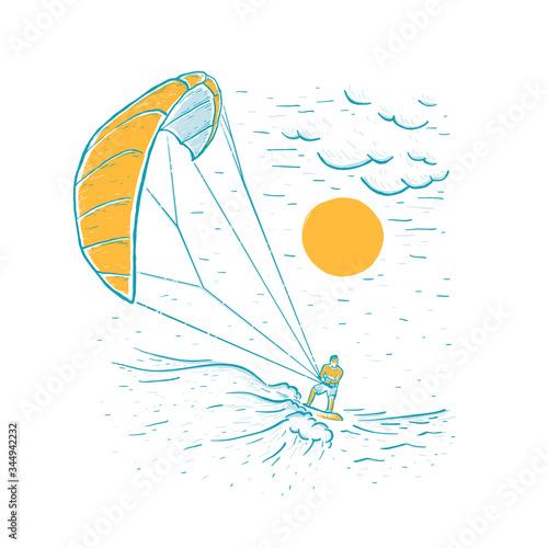 Photo Kite surfing