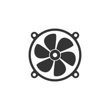 Fan Icon, Cooler Vector Illust...