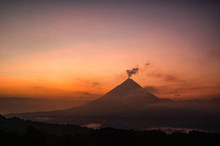 Arenal Volcano At Sunrise, Cos...