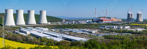 Panoramic view of Nuclear power plant Mochovce. Fototapeta