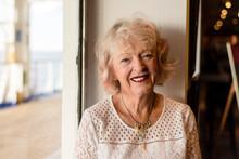 Portrait Of Senior Woman On A ...