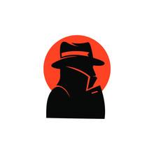 Spy, Detective Agency Vector Sign. Vintage Label. Private Detective Logo.