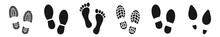 Different Human Footprints Ico...