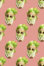 Pattern Of Lettuce Vegetables