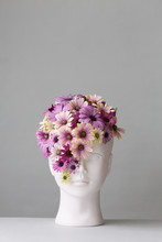 Woman's Head With Flowers