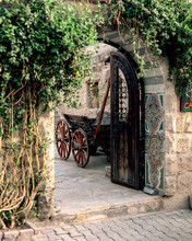 Beautiful Old House Entrance. ...