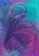 Swirly Metallic Abstract Liquid Background