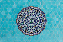 Mosaics Pattern In Blue