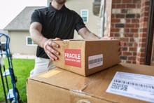Shipment: Man Drops Off Packag...