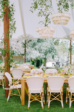 Colorful Spring Wedding Reception