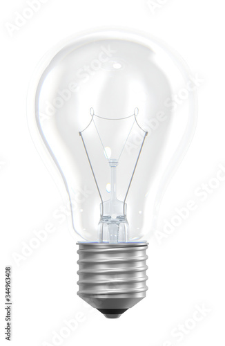 Photo Light bulb isolated on white 3d rendering