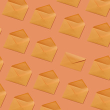 Envelope Pattern On A Peach Co...