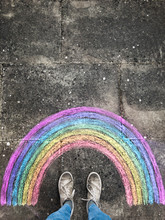 Chalk Rainbow And Sneakers