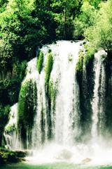 Fototapeta Wodospad Kravice waterfall on the Trebizat River in Bosnia and Herzegovina. Miracle of Nature in Bosnia and Herzegovina. The Kravice waterfalls, originally known as the Kravica waterfalls