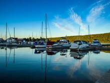 Sail Boats Docked Int He Marin...