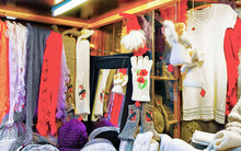Stall With Warm Woolen Clothes...