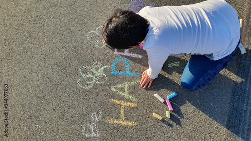 Photo Chalk, chalks, chalk drawing, kid drawing, kid art, preschool art, kindergarten