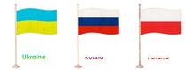 Flag Of Ukraine, Flag Of Russi...