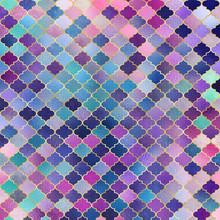 Mosaic Quatrefoil Design - Cut...