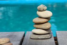 Pyramid Of Sea Pebbles On The ...