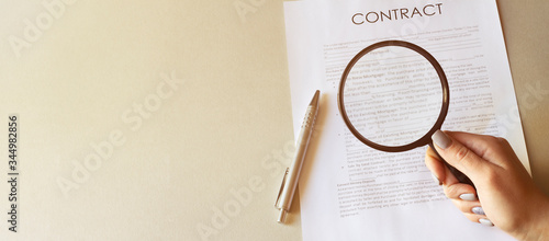 Magnifying Glass and document close up Wallpaper Mural