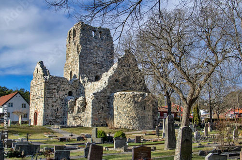Saint Olof Church ruins in Sigtuna, the first Christian town in Sweden фототапет