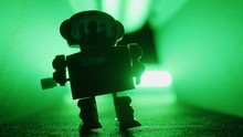 Toy Robot Dancing. Clockwork R...