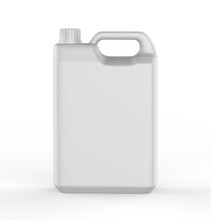 Blank  Plastic Jerry Can For Branding And Mock Up, 3d Render Illustration.