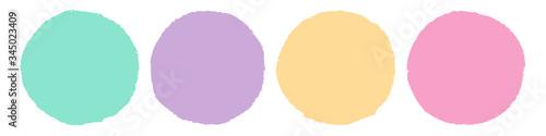 Fotografía Brush Circle Logo Template Vector.