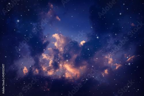 night sky with stars. Canvas