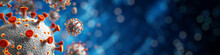 Novel Coronavirus, 2019-nCoV Or SARS-CoV-2, Cause Of The Global Flu Pandemic. Microscopic Virus Close Up Concept. 3d Rendering.