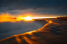Golden Sunrise At Niagara Falls