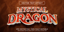 Editable Text Effect - Dragon Scale Texture Style