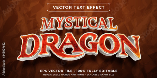 Fotomural Editable text effect - dragon scale texture style