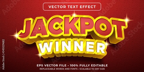 Editable text effect - jackpot prize style Canvas-taulu