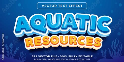 Fototapeta Editable text effect - under the sea style obraz