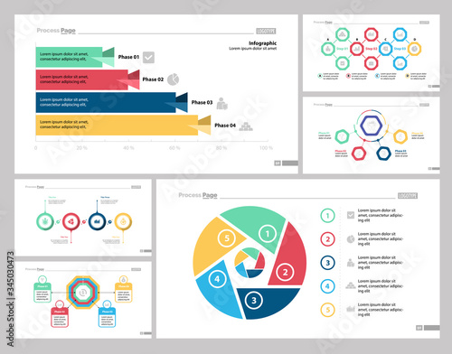 Infographic design set can be used for workflow layout, diagram, report, presentation, web design Canvas Print