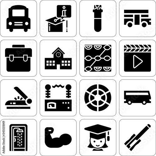 Photo Collection of 16 apprenticeship filled icons