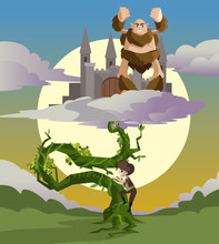 Jack And The Beanstalk Fairytale And The Castle In The Sky