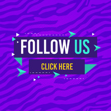 Follow Us, Click Here Label. T...