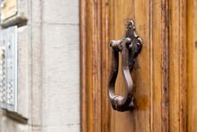 Close Metal Bronze Door Knocke...