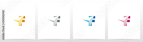 Arrowhead On Letter Logo Design F Canvas Print