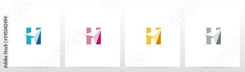 Photo Arrowhead On Letter Logo Design H