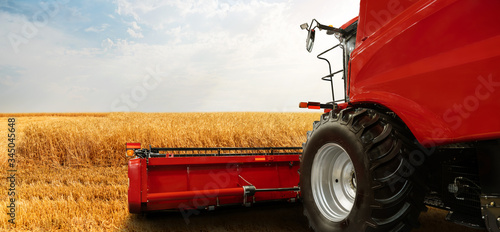 Aufkleber - Combine harvester on the wheat field