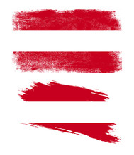 Austria Flag With Grunge Texture