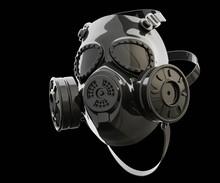 Respirator, Gas Mask, Black, Mirror Glass, Black Background, Wallpaper