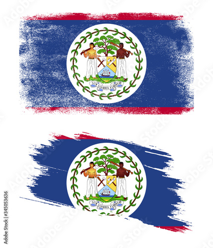Belize flag with grunge texture Wallpaper Mural