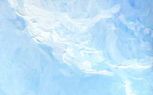 Oil Painting. Blue Sky With Cl...